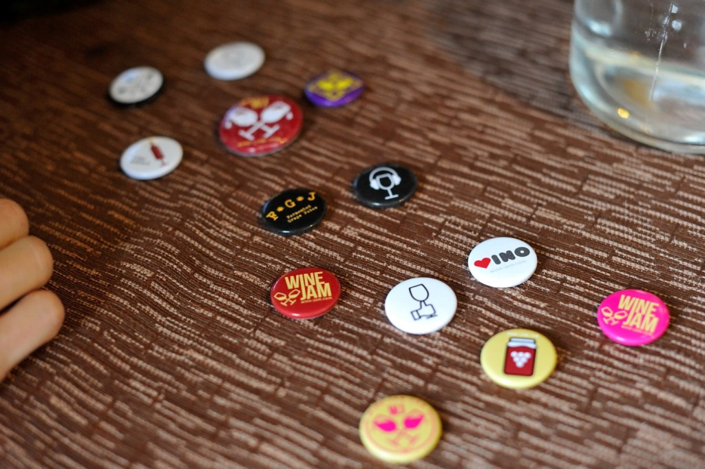 wine jam badges
